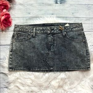NWT Carmar Distressed Denim Mini Skirt